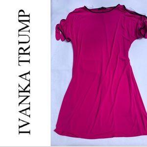 Ivanka Trump Cold Shoulder Dress with Tie